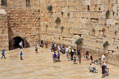 Prayers at Western Wall in Jerusalem, Israel. Royalty Free Stock Photo