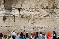 Prayers at the Western Wall, Jerusalem. Royalty Free Stock Photos