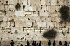 Prayers at the Wailing Wall Royalty Free Stock Image