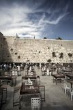 Prayers at the Wailing Wall Stock Image