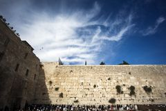 Prayers at the Western Wall Royalty Free Stock Image