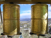 prayerwheels Royaltyfria Bilder