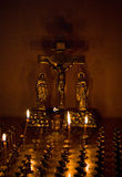 Prayful candle. The Prayful candle  in church Royalty Free Stock Photo