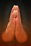Praying. Two Hands praying or in meditative position stock photos
