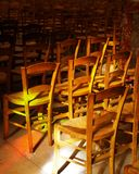 Praying. Chairs in a church Stock Photography