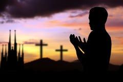 praying stock foto