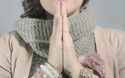 praying royalty-vrije stock foto
