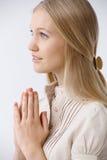 praying stock foto's