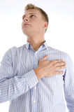 Praying american man Royalty Free Stock Photos