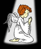 Praying Angel Royalty Free Stock Photography