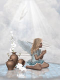 Praying angel Stock Image