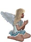 Praying Angel 3. 3d render of praying Angel 3 Royalty Free Stock Photography