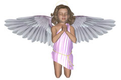 Praying Angel 4. 3d render of praying Angel 4 Stock Images