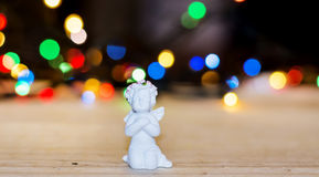Praying angel figurine Stock Photos
