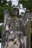 Praying Angel found in Oakwood Cemetery in Fort Worth Texas royalty free stock image