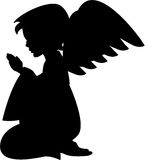 Praying Angel in Silhouette Royalty Free Stock Photos