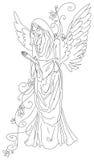 Praying angel sketch - EPS Stock Photo