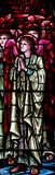 An praying angel (stained glass) Royalty Free Stock Photography