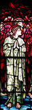 An praying angel (stained glass). A photo of an praying angel (stained glass stock images