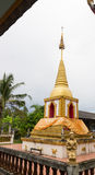 Praying angel statue beside the buddhist pagoda Royalty Free Stock Images