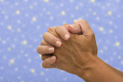 Praying aos céus Imagens de Stock Royalty Free