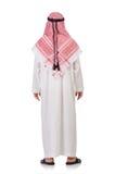Praying arab man. Isolated on white Stock Images