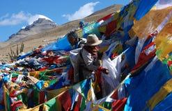 Praying  around  Kailash Royalty Free Stock Images
