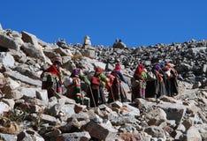 Praying  around  Kailash Royalty Free Stock Image