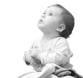 Praying baby girl Royalty Free Stock Image