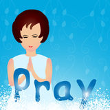 Praying Royalty Free Stock Photos