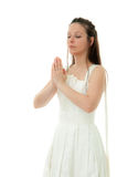Praying bride Stock Photography