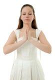 Praying bride Stock Photo