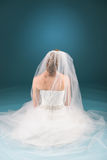 Praying bride Royalty Free Stock Photos