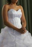 Praying bride royalty free stock photos
