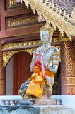 Praying Buddha statue outside Wat Chiang Man, Chiang Mai Stock Photos