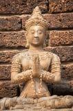Praying buddha statue at Wat Jet Yod, Chiang Mai, Thailand Stock Image
