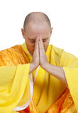 Praying Buddhist monks Royalty Free Stock Photos