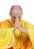 Praying Buddhist monks royalty free stock photos