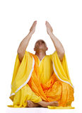 Praying Buddhist monks Royalty Free Stock Images