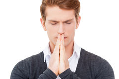 Praying for business. Royalty Free Stock Photo