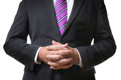 Praying business man Royalty Free Stock Images