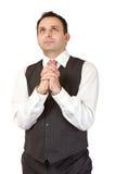 Praying businessman Royalty Free Stock Photography