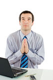 Praying businessman Royalty Free Stock Photography