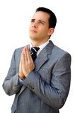 Praying businessman Stock Image