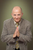 Praying BusinessMan Royalty Free Stock Photo