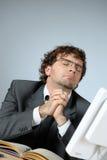 Praying businessman. Vertical image of praying businessman Royalty Free Stock Photos
