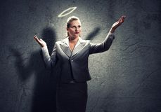 Praying businesswoman stock photos