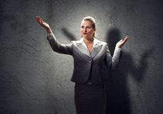 Praying businesswoman Royalty Free Stock Photos