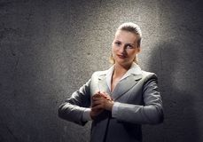 Praying businesswoman Royalty Free Stock Photo