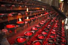 Praying candles Royalty Free Stock Image